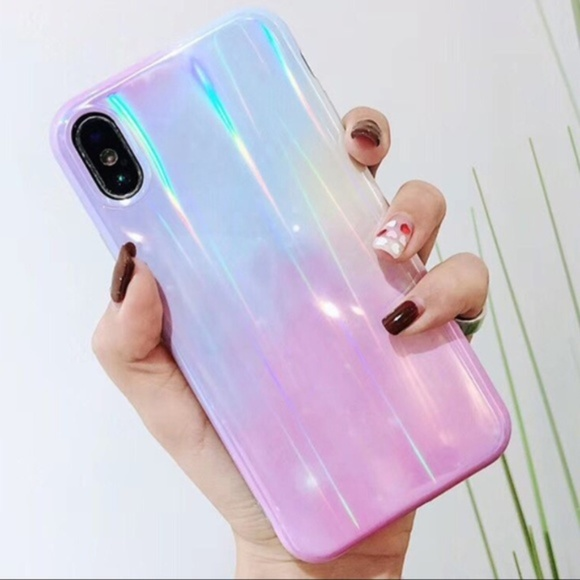 Accessories - NEW iPhone 7/8 Blue & Purple Ombre Laser Case